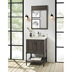 Photo Gallery On Website Buy Fairmont Designs Toledo uquot Vanity with Doors for Quartz Top Driftwood Gray at