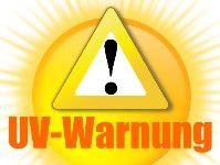Aktuelle UV-Warnung  Die UVI-Werte liegen heute in ganz Deutschland zwischen 6 und 7, möglicherweise noch höher.   Schutzmaßnahmen sind unbedingt erforderlich - auch im Schatten!  Kinder unbedingt entsprechend schützen. Dunkle Textilien (möglichst mit UV Schutz), Sonnenhut mit Nackenschutz und die Sonnenbrille nicht vergessen!  Mehr unter: http://www.cleankids.de/aktueller-uv-index