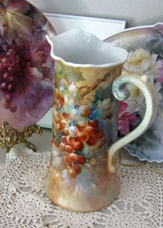celeste mccall grape pitcher | ARTchat - Porcelain Art Plus (formerly Chatty Teachers  Artists ...