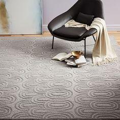 Radiating Ovals Wool  Rug - Platinum #westelm