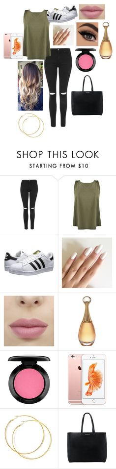 """look pour le lycee"" by emmasargero on Polyvore featuring Topshop, adidas Originals, MAC Cosmetics et MANGO"