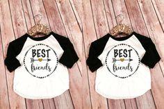 Mejor amigos infantil Raglans, mejores amigos para siempre camisas, coincidencia de mamá y Me BFF camisas, Custom mejor amigo remeras, BFF juego camisa conjunto