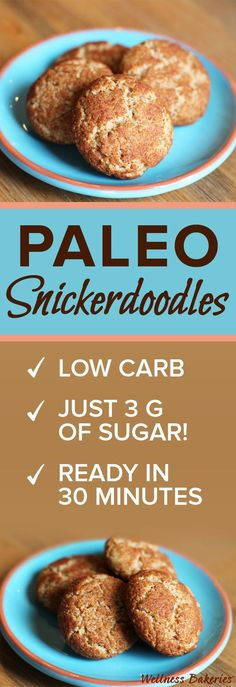 Craving a crisp-and-soft snickerdoodle... but not the inflammatory grains, gluten and sugar! Our low carb Paleo Snickerdoodles taste just like the real deal
