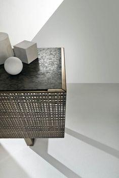 Furniture - sideboard BD 91 by Bartoli Design Recycled Furniture, Metal Furniture, Luxury Furniture, Home Furniture, Modern Furniture, Furniture Design, Office Furniture, Metal Sideboard, Low Sideboard