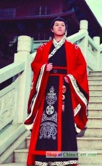 Traditional Chinese Hanfu Dragon Wedding Dress for Bridegroom