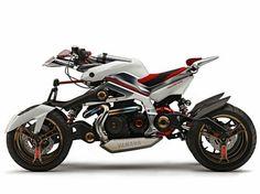 Futuristic Yamaha motorbike concept | unknown