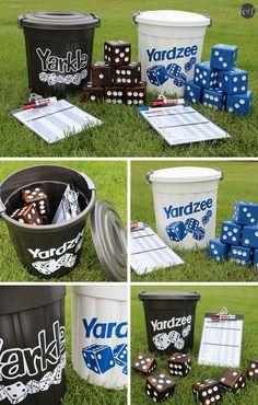 How to Make Your Own Yahtzee (Yardzee) and Farkle (Yarkle) Yard Games - Abundance of Everything
