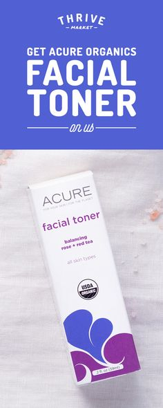 Get your FREE Acure Organics facial toner at Thrive Market! On a mission to make healthy living easy and affordable for everyone, Thrive Market offers premium, healthy foods and wholesome products up to 50% off every day with delivery right to your door. Get your FREE facial toner today while supplies last, and start saving!