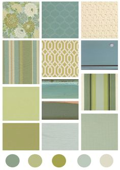 Cottage Style Color Inspiration: Turquoise and Green
