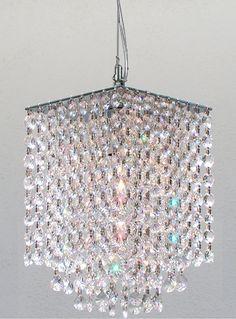 "Modern Contemporary Crystal Pendant Chandelier Lighting H 9"" X W 6"" - Ceiling Pendant Fixtures - Amazon.com"
