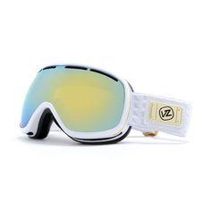 Von Zipper Chakra 2010 Snowboard Goggles - White Metallic Frame / Gold Chrome Lens