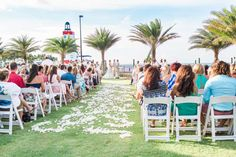Gorgeous Wedding Ceremony set up on our Yacht Club Event Lawn! #Wedding #FaroBlanco Twist of Fate Imagery