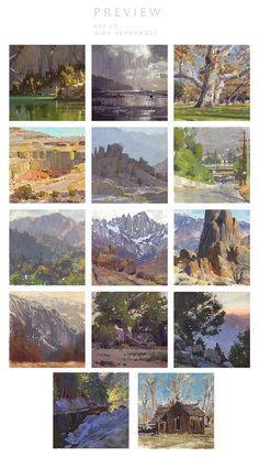 Mike Hernandez & Cottonwood Arts is raising funds for The Art of Mike Hernandez on Kickstarter! Bringing Dreamworks Animation Artist, Mike Hernandez's plein air paintings together in a beautifully bounded, Cottonwood canvas book. Watercolor Landscape, Landscape Art, Landscape Paintings, Watercolor Art, Composition Art, Artist Sketchbook, Paludarium, Guache, Southwest Art