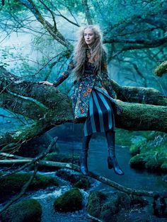 into the woods: raquel zimmermann by mikael jansson for us vogue september 2015 | (visual optimism) | Bloglovin'