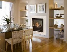 Image result for two sided gas fireplace
