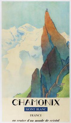 1960s Chamonix Mont Blanc Travel Poster