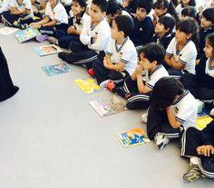 Children listening to Shaikha Shamma Bint Sultan Bin Khalifa Al Nahyan, granddaughter to UAE President, reading a story from Reemiyat series through ADEC initiative 'Abu Dhabi Reads'. United Arab Emirates, Abu Dhabi, Uae, Presidents, The Unit, Reading, Children, Young Children, Boys