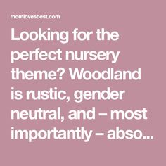Looking for the perfect nursery theme? Woodland is rustic, gender neutral, and – most importantly – absolutely adorable. Here are 31 ideas to help you.