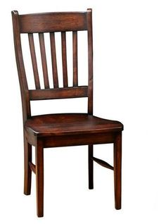 Amish Frontier Dining Chair Even the underside of each chair is stained by hand. Quality dining room chairs that will look beautiful always. The Frontier is a top seller among Amish dining chairs.