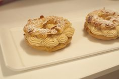 Classic french pastry Paris Brest with mousseline cream & praline ~ Recipe in video : https://www.youtube.com/watch?v=IcQ1bciB0tU