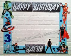 Avengers Frame / Photo Booth /  Photo Prop Digital File