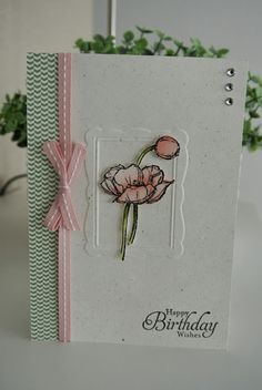 Paper - Naturals White, Watercolour paper. DSP stacks.    Ink - Blushing Bride, Pink Pirouette, Calypso Coral, Pear Pizzazz, Old Olive