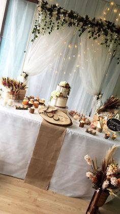 """Used (normal wear), Dessert table backdrop with """"love is sweet"""" sign. And table burlap pieces with 2 bows (can't find the bow). Used for bridal shower. Make an offer! Wedding Table, Diy Wedding, Rustic Wedding, Wedding Ideas, Wedding Advice, Farm Wedding, Dream Wedding, Bridal Shower Decorations, Wedding Decorations"""