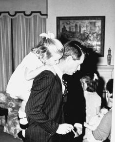 Bobby Kennedy with one of his kids