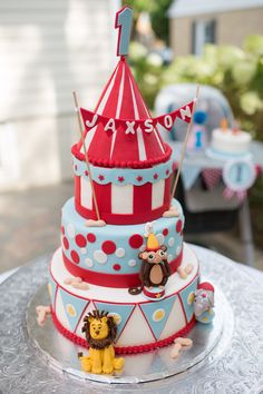 If so, then check out this Vintage Circus Birthday Party at Kara's Party Ideas! Circus Party Decorations, Circus Carnival Party, Carnival Food, Carnival Birthday Parties, Circus Birthday, Baby Birthday, Birthday Party Themes, Cake Decorating, Vintage Circus