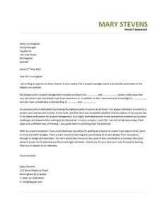 Operations Manager Cover Letter No Experience - http://ersume.com ...