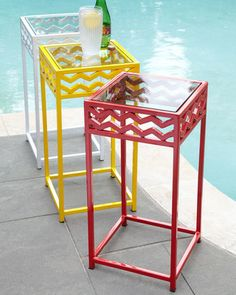 Horchow Chevron Outdoor Accent Table from Horchow | BHG.com Shop