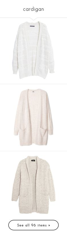 """cardigan"" by sinyukovayulya ❤ liked on Polyvore featuring tops, cardigans, jackets, outerwear, sweaters, plus size white tops, women's plus size cardigans, plus size long sleeve tops, open front cardigan and plus size white cardigan"