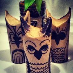 DIY toilet paper owl #owl #diy