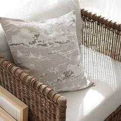 Skylake Toile Pillow Cover – Bone