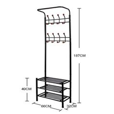 New Hall Tree Hat Coat Rack Stand Bench Shelf Shoes Entryway Organizer Metal US Entryway Furniture, Furniture For Small Spaces, Corner Hall Tree, Diy Coat Rack, Tree Collar, Painting Shower, Metal Christmas Tree, Clothes Stand, Standing Coat Rack