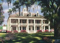 Georgia Southern Plantations | This magnificent Greek revival mansion was built by Colonel John Smith ...