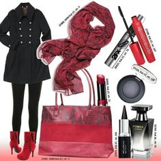Red fashion look 2014.