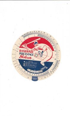 Vintage Baseball Percentage Solver In Envelope Wells Publishing from a fabulous eCrater.com seller.