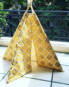 Mustard Ikat Teepee by NestleInATeepee on Etsy