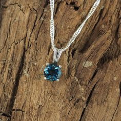 Handmade London Blue Topaz Gemstone Pendant  by CJsRocksGems