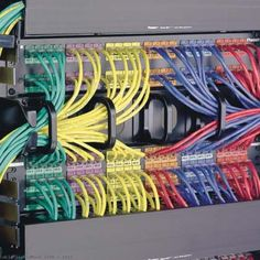 D-Ring Cable Managers for fast access to your busy servers