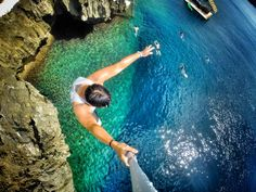Cliff jumping in Boracay in the Philippines with Keith Mui. Mount your waterproof GoPro camera to poles using the Handlebar / Seatpost / Pole Mount: http://gopro.com/camera-mounts/handlebar-seatpost-pole-mount