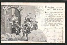 Alte Ansichtskarte: AK Der Rattenfänger von Hameln an der Himmelspforte