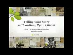 Have you found stories in your family history that just have to be told? Join Crista as she interviews Ryan Littrell, author of Reunion: A Search for Ancestors. They'll discuss the process of getting your family stories written down in a format that your whole family will be able to understand and enjoy. #genealogy