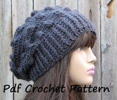 CROCHET PATTERN!!! Crochet Hat - Slouchy Hat, Crochet