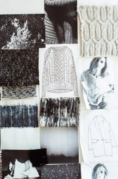 Fashion Moodboard - knitwear collection inspirations, fashion design creative process // Nili Lotan for J.Crew
