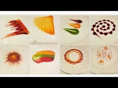 Types of Colorful Plating techniques Decoration Patisserie, Dessert Decoration, Plate Design, Food Design, Fancy Food Presentation, Food Plating Techniques, Food Garnishes, Garnishing, Dessert Sauces