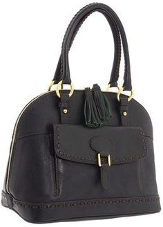 ShopStyle: Dooney & Bourke - Florentine Domed Satchel (Black/T. Moro) - Bags and Luggage