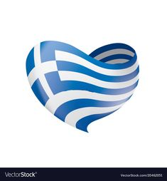 Greece flag vector image on VectorStock Greece Flag, Colors And Emotions, Greek Beauty, Chios, Flag Vector, National Flag, Travel Posters, Adobe Illustrator, Tattoos