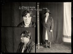 AUSTRALIAN MUGSHOTS | Lillian Sproule, 31 October 1928 | State Reformatory for Women, Long Bay | Tasmanian Lillian Sproule became involved in Sydney's cocaine trade. She was labeled a 'parasite in skirts' by the newspapers and had multiple convictions relating to drug dealing. She was sentenced to six months in prison. DOB: 1878.